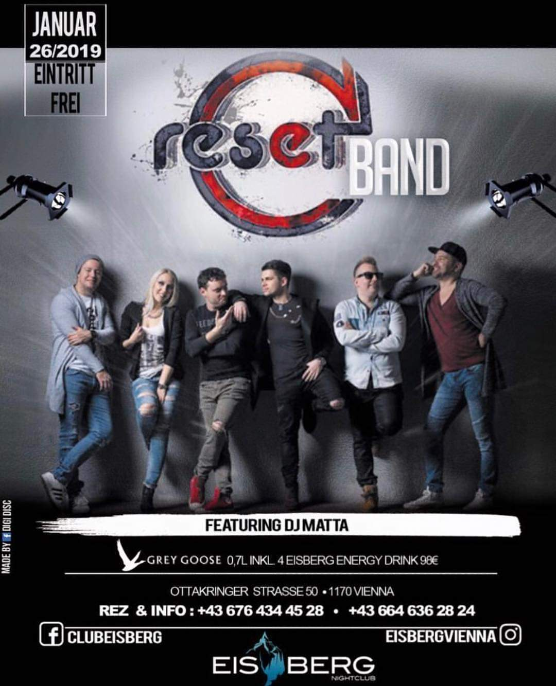 RESET BAND LIVE 26 1 2019 CLUB EISBERG BEC - Infoplay Nightlife